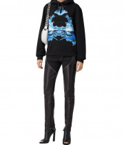 Burberry Poulter Shark-Print Oversized Cotton Hoodie