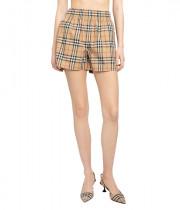 Burberry Vintage Check Side-Stripe Stretch Cotton Shorts