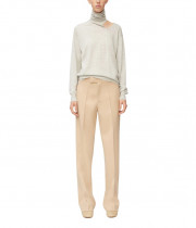 Céline Cutout Wool & Silk Blend Turtleneck Sweater