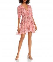 Cinq à Sept Tish Floral Print Mini Dress