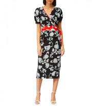 Diane von Furstenberg Alexia Floral-Print Wrap Top