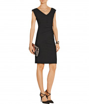 Diane von Furstenberg Bevin Ruched Stretch-Crepe Dress