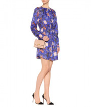 Diane von Furstenberg Floral Tie Waist Mini Dress