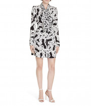 Diane von Furstenberg Franca Crawling Chain Tie-Neck Dress