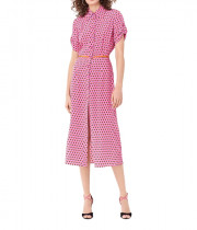 Diane von Furstenberg Georgia Silk Crepe De Chine Midi Shirt Dress