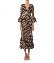 Diane von Furstenberg Henlow Birch Ruffle Sleeve Wrap Dress
