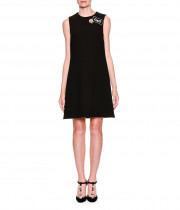 Dolce & Gabbana Embroidered Logo Patch Mini Dress
