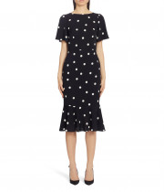Dolce & Gabbana Polka Dot Silk Midi Dress