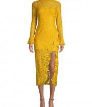 Alexis Fala Lace Midi Dress
