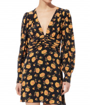 Veronica Beard Marion Floral Silk Crepe Mini Dress