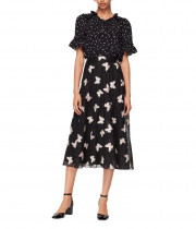 Kate Spade Butterfly Embroidered Midi Skirt