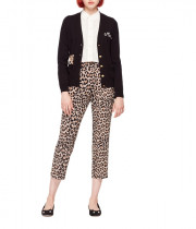 Kate Spade Meow Leopard Embroidered Cardigan