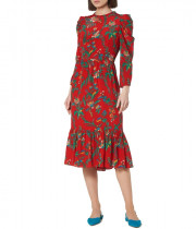 L.K.Bennett Alissa Wildflower Print Silk Midi Dress
