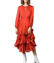 Les Petites Fauve Ruffle Midi Dress