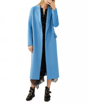 Maje Geode Double-Face Belted Coat
