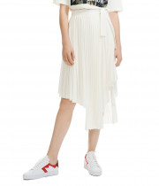 Maje Jaxy Asymmetric Pleated Skirt