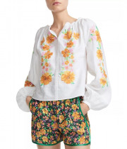Maje Lipsy Embroidered Floral Blouse