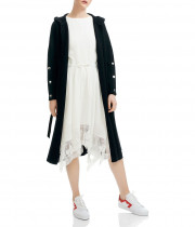 Maje Maelio Long Hooded Cardigan