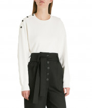 Maje Marlina Shoulder Button Sweater