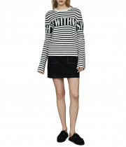 Maje Minotora Striped Wool-Blend Sailor Sweater