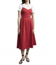 Maje Rimana Spaghetti Strap Cotton Dress