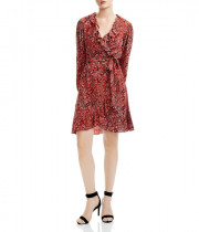 Maje Rosetto Leopard Wrap Dress