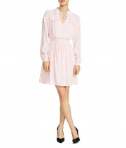 Maje Rubin Smocked Blouson Dress