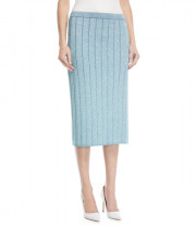 Marc Jacobs Metallic Rib-Knit Pencil Skirt