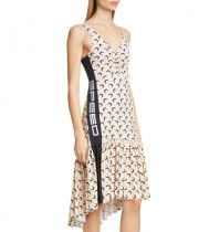 Marine Serre Crescent Print Side Panel Dress