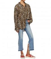 R13 Oversized Leopard-Print Cowboy Shirt