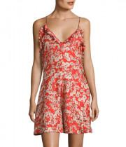 Rebecca Taylor Cherry Blossom Print Silk Romper