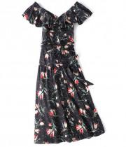 Rebecca Taylor Ikat Tulip Poplin Midi Dress