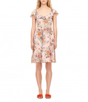 Rebecca Taylor Marlena Ruffle Silk Dress