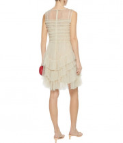 RED Valentino Ruffled Point D'esprit Tulle Mini Dress