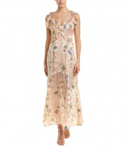 Reiss Almeria Floral Devoré Silk-Blend Maxi Dress