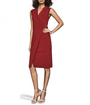 Reiss Gabrielle Bodycon Knitted Wrap Dress