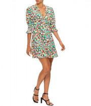 Rixo Juni 80s Micro Shell Mini Dress