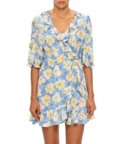 Rixo Nina Azelea Bloom Mini Wrap Dress