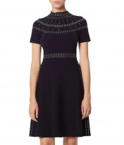 Sandro Bugle Embellished Knit Skater Dress
