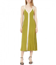 Sandro Elwire Ribbed Two-Tone Knit Midi Dress