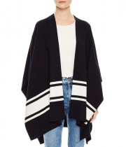 Sandro Flore Striped Poncho-Style Cardigan
