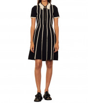 Sandro Flore Two-Tone Knit Dress