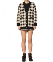 Sandro Jisou Checked Cardigan