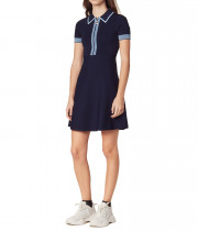 Sandro Lue Zip Collar Knit Polo Dress