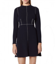 Sandro Lune Contrast Stitching Knit Dress