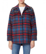 Sandro Mar Embellished Flannel Jacket
