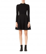 Sandro Opinion Studded Knit Dress