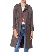 Sandro Roselier Plaid Trenchcoat