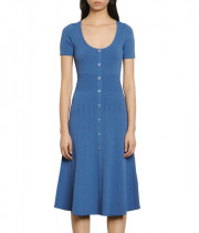 Sandro Sophy Buttoned Knit Midi Dress