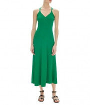 Sandro Terri Cutout Ribbed-Knit Midi Dress